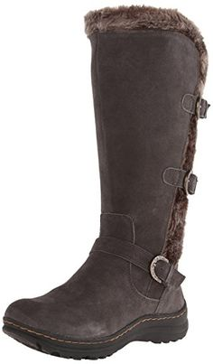 BareTraps Women s Ayden Snow Boot Water-resistant suede snow boot featuring  faux-fur lining and three buckle closures placed at vamp and shaft Faux-fur  back ... 5b4c80e346