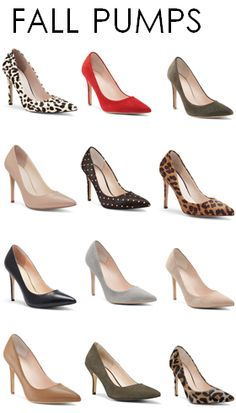 Fall Must-Haves: Pumps in every color! #ilovefall http://www.revolvechic.com/#!heels/c6v2 I want every shoe