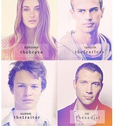Tris, tobias, caleb, eric
