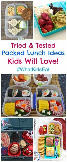 Packed lunch ideas for kids from around the web - plus the weekly What Kids Eat Wednesday linky party with tons more kid friendly food ideas