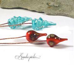 SRA handmade lampwork glass headpins 4 Artisan by Annelibeads