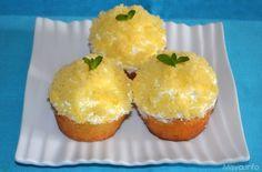 Cupcakes mimosa, scopri la ricetta: http://www.misya.info/2013/03/04/cupcakes-mimosa.htm