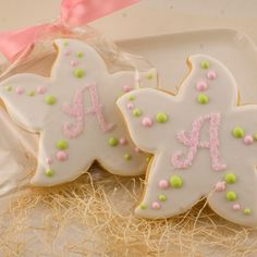 Monogrammed Starfish Cookie Favors  1 Dozen Decorated by TSCookies, $33.00