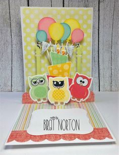 Crafting While I Wait: Crazy 4 Challenges ~ Birthday Owls