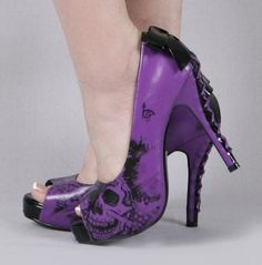 zombie stomping - awesome shoes in purple!