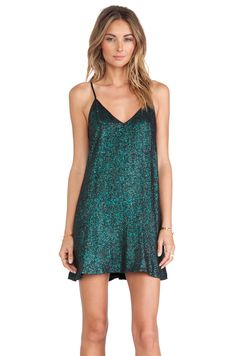 NBD Champagne Babydoll Dress in Emerald