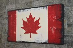 """CANADA FLAG, CUSTOM WOOD SIGN COLLECTION, FARMHOUSE SIGN COLLECTION, APPROX SIZE 12"""" X 24"""", RUSTIC, 1"""" ROUGH CUT SOLID PINE, HAND CRAFTED WOOD SIGNS, COTTAGE SIGNS, PAINTED WOOD SIGNS, BARN BOARD SIGNS, KITCHEN SIGN, FARMHOUSE KITCHEN, CHIC WALL DECOR, HOME DECOR, VINTAGE SIGNS, RECLAIMED WOOD SIGNS, ANTIQUE WOOD SIGNS, DISTRESSED WOOD SIGN, CUSTOM WOOD SIGNS, CANADA WOODWORKS, ALLISTON ONTARIO CANADA, CANADAWOODWORKS.COM"""