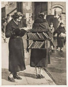 The original bookmobile! We love this photo from early 1930's London.