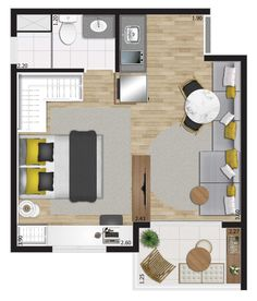 You,Inc Layouts Casa, House Layouts, Lofts, Studios, Studio Apt, Tiny Apartments, Home Design Plans, House Floor Plans, House Design