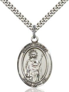 "St. Grace Sterling Silver 1"""