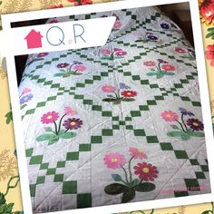 Pat made this wonderful quilt for her granddaughter in her favourite colours.