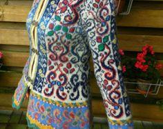 Unique Norwegian Style Hand-Made Designer Jacket - size S