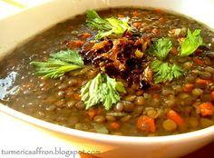 Turmeric & Saffron: Soup-e Adas - Persian Lentil Soup Middle East Food, Middle Eastern Recipes, Soup Recipes, Cooking Recipes, Healthy Recipes, Turkish Recipes, Persian Recipes, Iranian Cuisine, Dinner Entrees