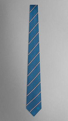 Burberry London Striped Silk Twill Tie