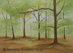 Walk In The Woods, Arches, Cobalt Blue, Watercolour, Van, Colours, Website, Yellow, Frame