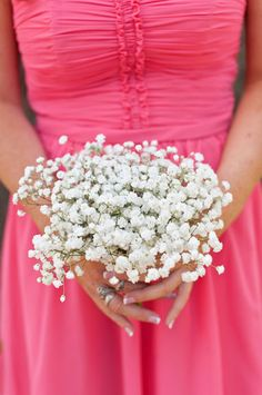 #Baby'sBreath - While these petite, wispy blossoms are traditionally thought of as fillers, they look absolutely lovely on their own. {Continuum Wedding Photography}