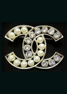 Chanel Crystal and Pearl Brooch