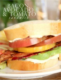 Bacon, Avocado & Heirloom Tomato Sandwich