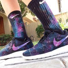 Custom galaxy Nike Roshe Runs #galaxy #rosherun #nike #nikerosherun #customnikes