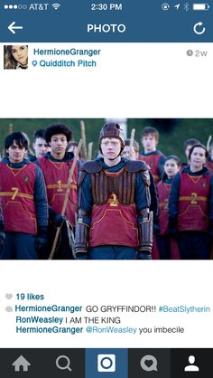 When she's going to a Quidditch match: | If Hermione Granger Had Instagram