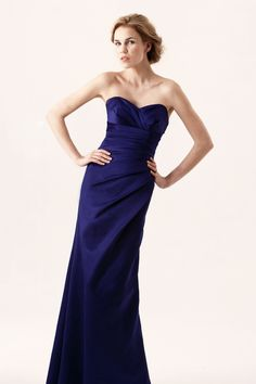 Strapless, satin bridesmaid dress http://www.findadress.co.uk/bridesmaids.html