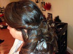 Bridget's hair I did for Mardi Gras ball
