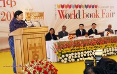 HRD minister Smriti Irani inaugurated ‪#‎WorldBookFair2016‬. ‪#‎BookLovers‬ made it successful this year as well.