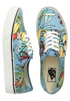 Vans Authentic Shoes - (Van Doren) Parrot/Light Blue $55.00