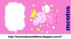 Montando minha festa: Peppa Pig Princess