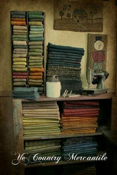 You don't need a whole wall of fiber to have enough stash to make your next rug. Look at this tight and tidy little wool nook...nice.