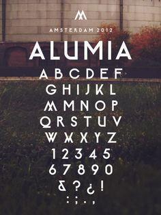 Alumia Typeface by Maarten van 't Wout, via Behance