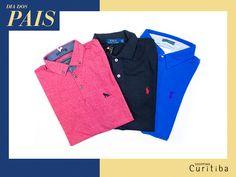 Polo Azul de todas as cores, versáteis e modernas, deixam seu pai lindão para o dia a dia. Loja California Co. reúne todas as melhores marcas!