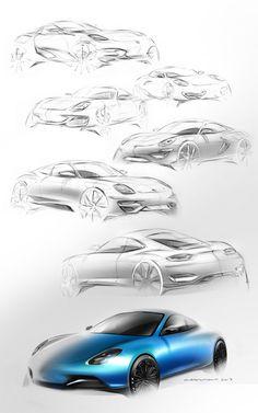 Porsche 911 on Behance