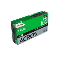 Fujifilm 102918 NEOPAN ACROS 100 Black and White Negative Film, ISO 100 120 - 5 Pack by Fujifilm. $23.66. Neopan 100 Acros is Fujifilm Professional's newest addition to its black-and-white family of films. Neopan 100 Acros is a medium speed, ultra-high-image quality black-and-white negative film and features the world's highest standard in grain quality among ISO 100 films.