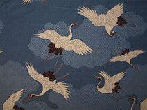 Kranich blau Diy Design, Rooster, Kids Rugs, Etsy, Mai, Animals, Elegant, Home Decor, Blue Fabric