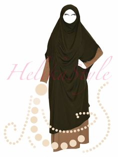 French jilbab without sleeves. :: Sewing classes and tutorials - HelikaStyle Islamic Fashion, Sewing Class, Hijabs, Kaftan, Tutorials, French, Sleeves, Collection, French People