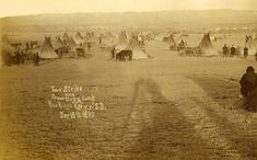 Two Strike and Crow Dogs Camp Pine Ridge Agency 1890.