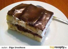 Řezy s tvarohovým krémem a banány recept - TopRecepty.cz Nutella, Desserts, Food, Gardening, Cakes, Tailgate Desserts, Deserts, Cake Makers, Essen