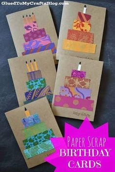 Image result for homemade birthday card by toddler