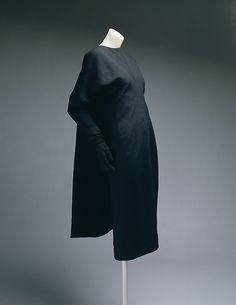 Dress Cristobal Balenciaga 1960–64 French  wool, silk