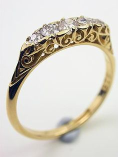 I have a very similar ring from my grandma.  They were her first diamonds and mine as well.