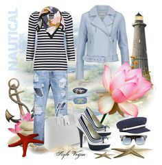 """""""Cool nautical look"""" by lamipaz ❤ liked on Polyvore featuring Gestuz, M&S Collection, Classe Regina, Funtasma, Marc by Marc Jacobs, Jura, Brixton, Humble Chic, women's clothing and women's fashion"""