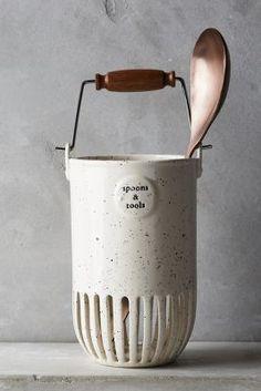 Anthropologie Dairy Pail Utensil Jar #anthrofave