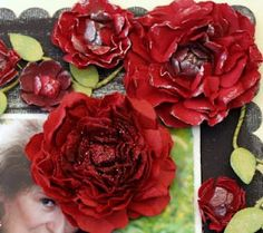 ♥♥♥ these stunning roses - so life like!AWEsome tutorials too!