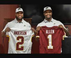 Washington #Redskins 2017 NFL Draft picks DE Jonathan Allen and LB Ryan Anderson #HTTR