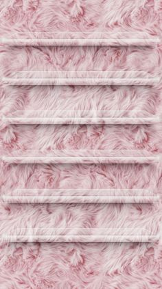 Fuzzy pink home screen