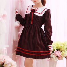 "Student navy bowknot dress  Coupon code ""cutekawaii' for 10% off"