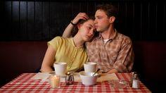 Saoirse Ronan as Eilis and Emory Cohen as Tony in Brooklyn.