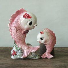 I had these fish in my bathroom!!!  #Kitsch