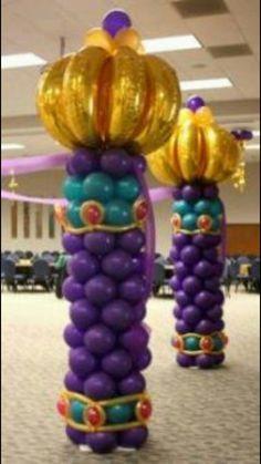 Fácil de hacer solo intenta linda decoracion con globos